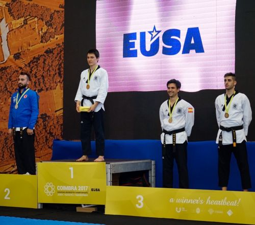 Gabriela Martins and Selgil Leblanc win gold in Poomsae